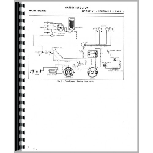 Massey Ferguson 3165 Industrial Tractor Service Manual