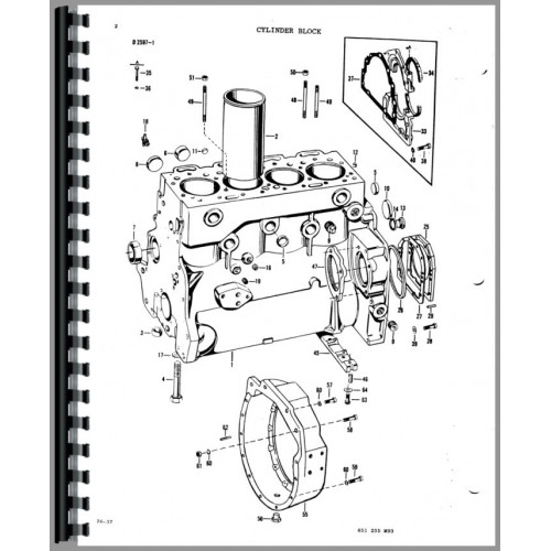 Massey Ferguson 33 Industrial Tractor Parts Manual
