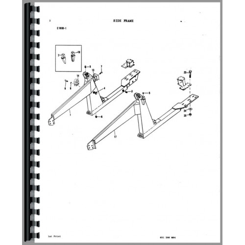 Massey Ferguson 34 Industrial Loader Attachment Parts Manual