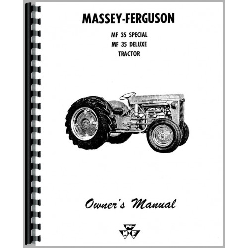 Massey Ferguson 35 Tractor Operators Manual