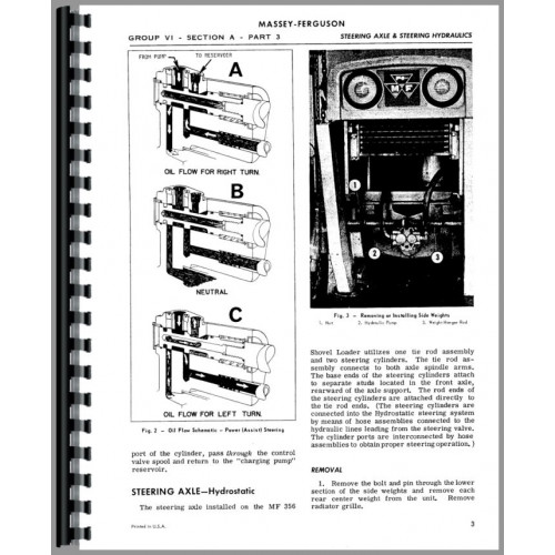 Massey Ferguson 356 Shovel Loader Service Manual