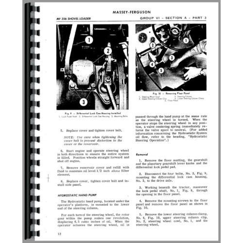Massey Ferguson 356 Shovel Loader Service Manual