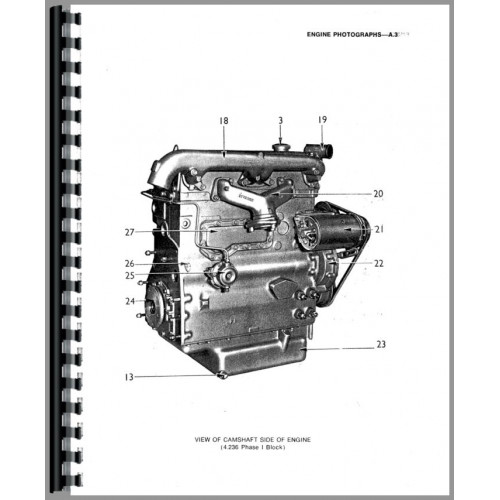 Massey Ferguson 382 Engine Service Manual
