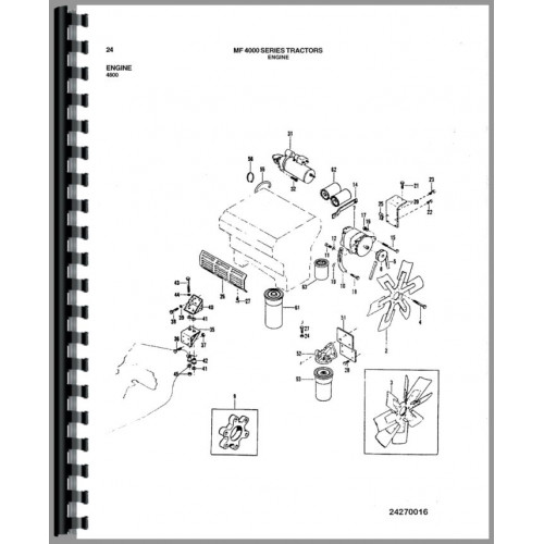 Massey Ferguson 4900 Tractor Parts Manual (Chassis)