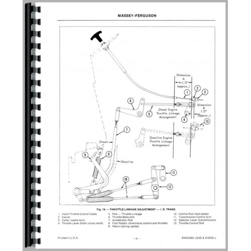 Massey Ferguson 50A Industrial Tractor Service Manual