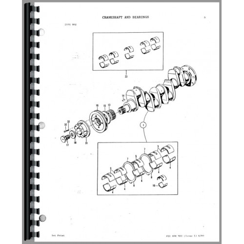 Massey Ferguson 60 Tractor Loader Backhoe Parts Manual