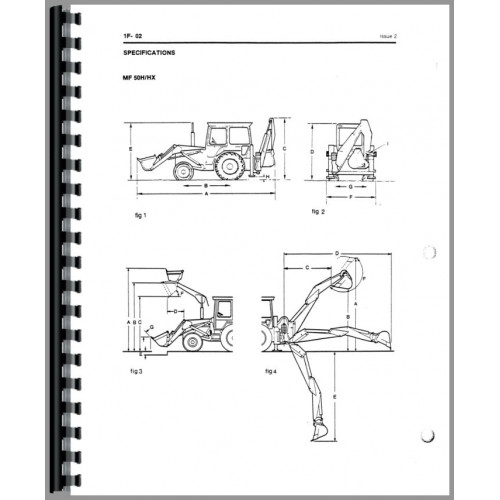 Massey Ferguson 50H Tractor Loader Backhoe Service Manual