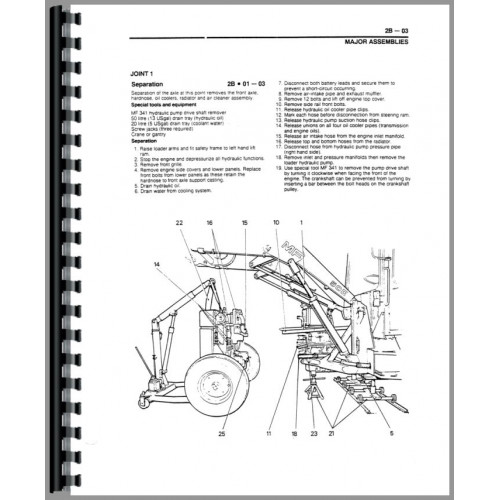 Massey Ferguson 50HX Tractor Loader Backhoe Service Manual