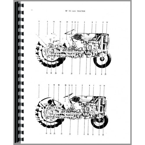 Massey Ferguson 65 Tractor Parts Manual