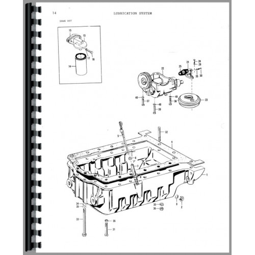 Massey Ferguson 670 Tractor Parts Manual