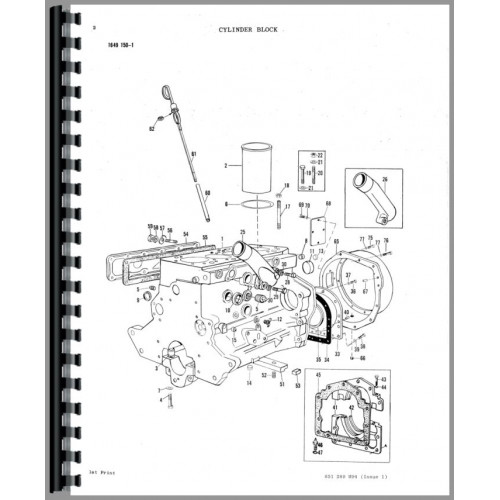 Massey Ferguson 70 Industrial Tractor Parts Manual