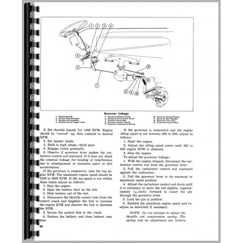 Massey Ferguson 85 Tractor Operators Manual (Gas Only)