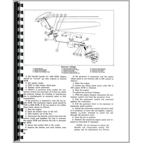 Massey Ferguson 85 Tractor Operators Manual (Gas Only)