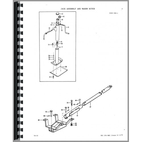Massey Ferguson 124 Baler Parts Manual