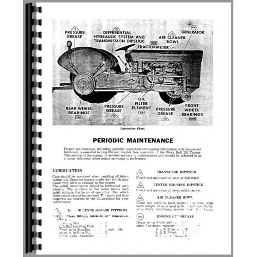 Massey Ferguson 202 Tractor Operators Manual (Work Bull)