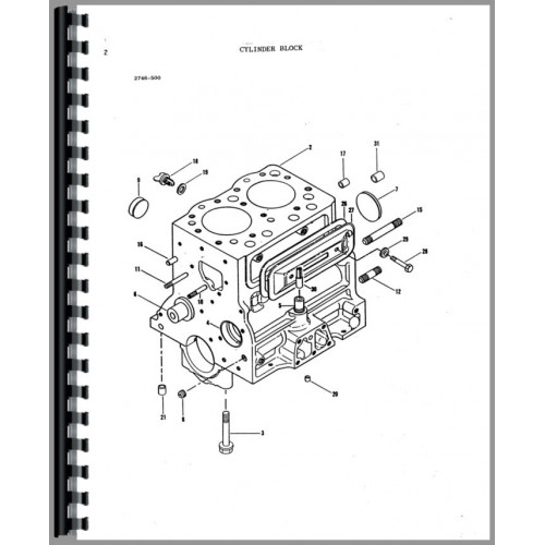 Massey Ferguson 220-4 Tractor Parts Manual