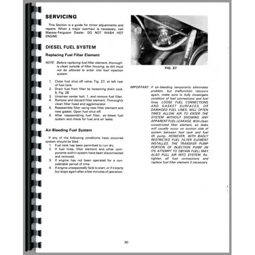 Massey Ferguson 230 Tractor Operators Manual (SN# 9A349200