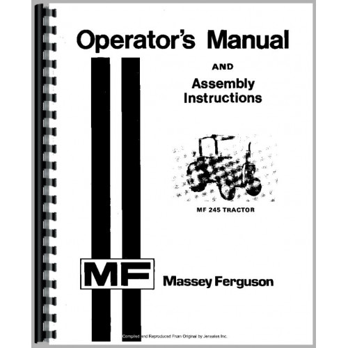 Massey Ferguson 245 Tractor Operators Manual