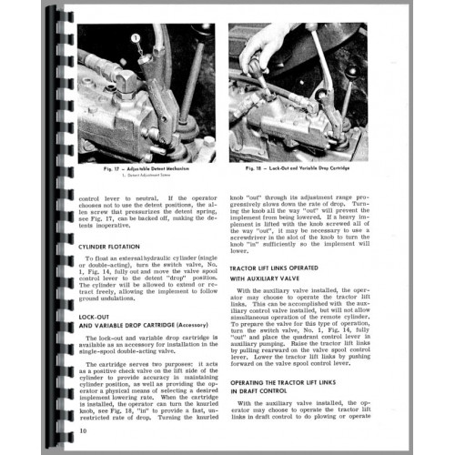 Massey Ferguson 135 Hydraulic System Operators Manual