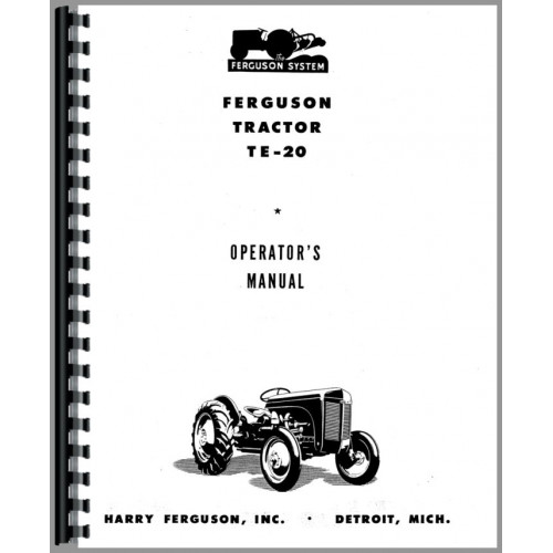 Ferguson TE20 Tractor Operators Manual