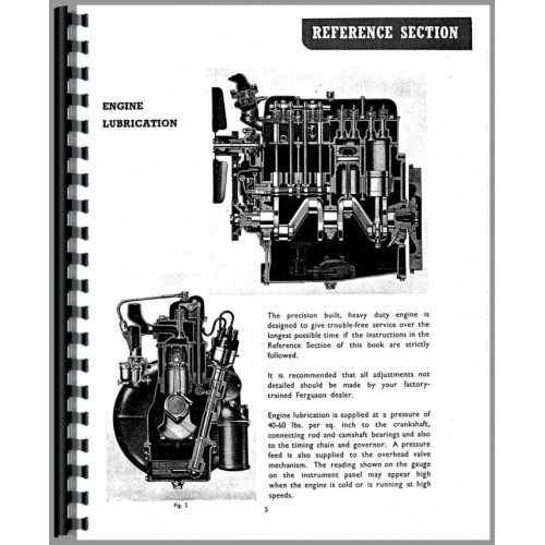 Ferguson TEA20 Tractor Operators Manual (SN# 0-172500) (0
