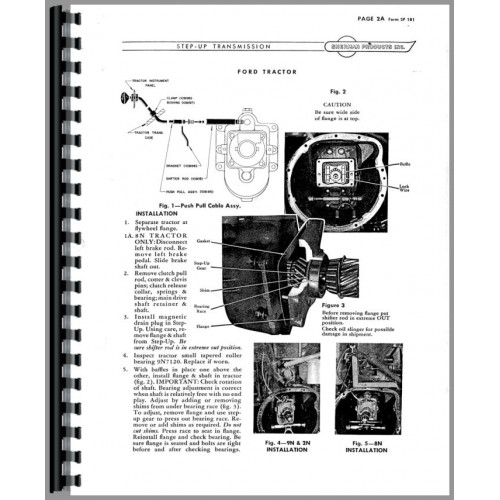 Ford NAA Sherman Transmission Service Manual (Transmission