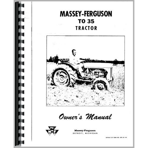 Ferguson TO35 Tractor Operators Manual (1954-1960) (1954