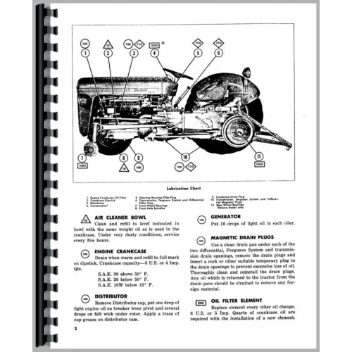 Ferguson TO35 Tractor Operators Manual (1954-1960) (1954