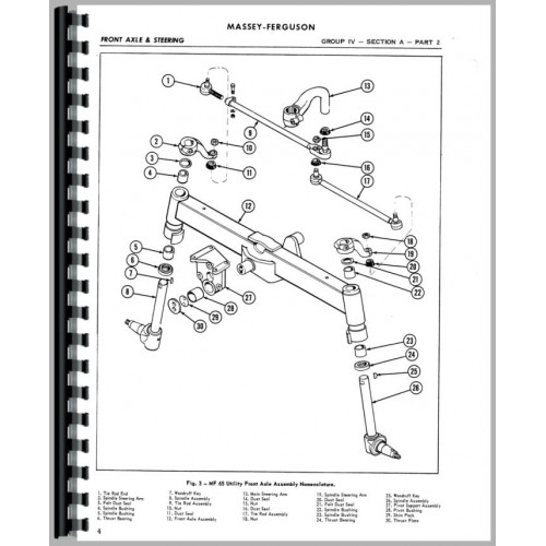 Massey Ferguson 50 Tractor Service Manual (1957-1964) (AG)