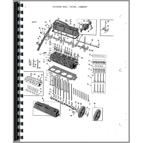 Massey Harris 33 Tractor Parts Manual (Row Crop & Standard)