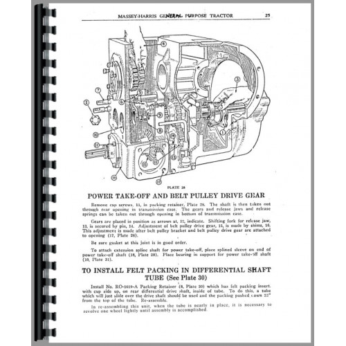 Massey Harris GP Tractor Service Manual