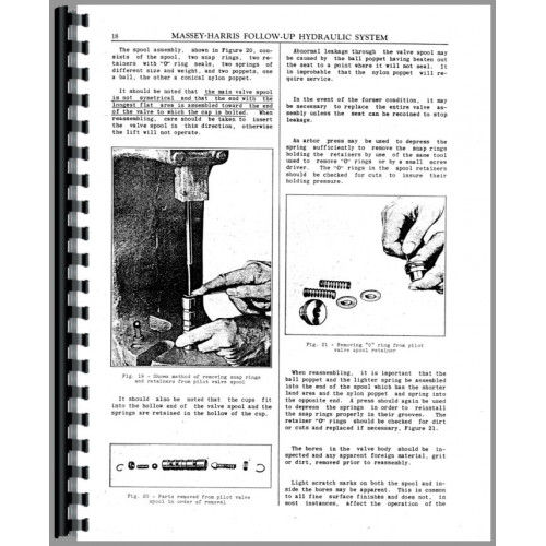 Massey Harris 22 Tune Up Service Manual