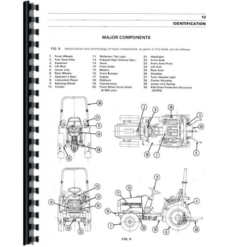 Massey Ferguson 1230 Tractor Operators Manual