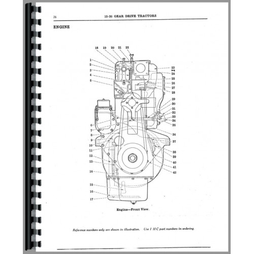 Mccormick Deering 15-30 Tractor Parts Manual (SN# 29 and
