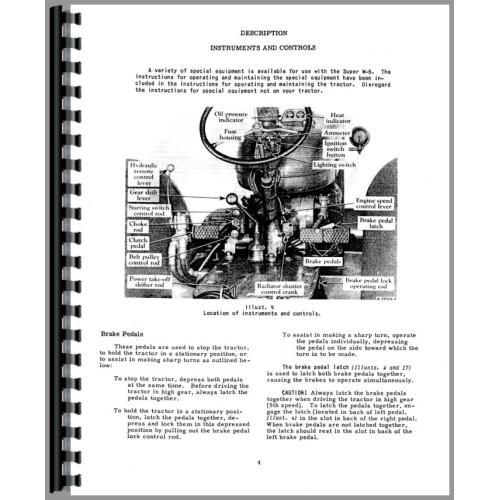 Mccormick Deering Super W6 Tractor Operators Manual