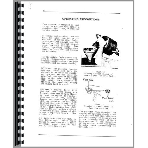 Mccormick Deering W6 Tractor Operators Manual