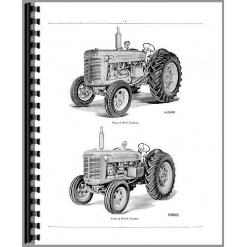 Mccormick Deering WDR9 Tractor Parts Manual
