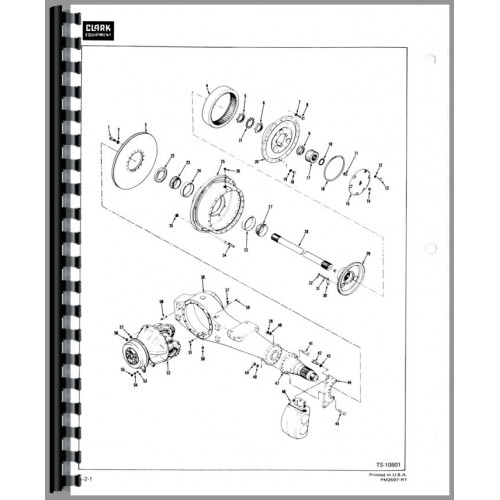 Michigan 175B Wheel Loader Parts Manual (SN# 427A101 and