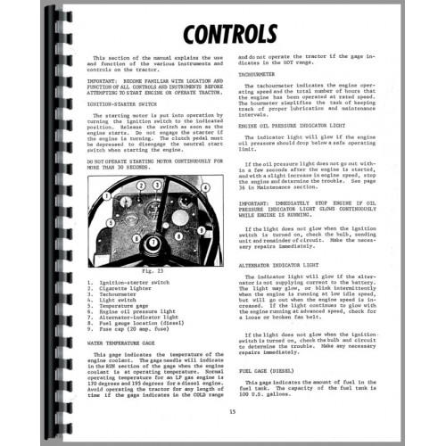 Minneapolis Moline A4T-1600 Tractor Service Manual