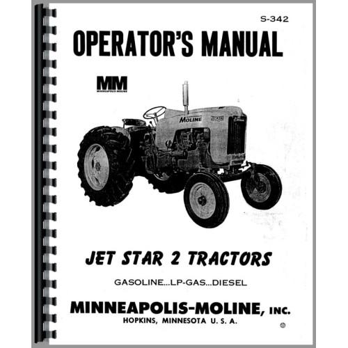 Minneapolis Moline Jet Star 2 Tractor Operators Manual