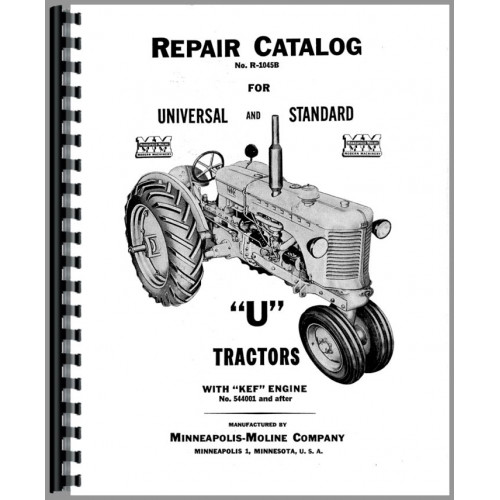 Minneapolis Moline UTS Tractor Parts Manual (SN# to-334000)