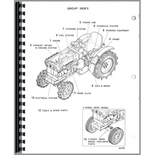 Satoh S370D Tractor Parts Manual
