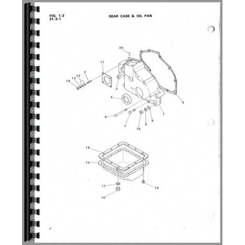 Satoh S370D Tractor Parts Manual