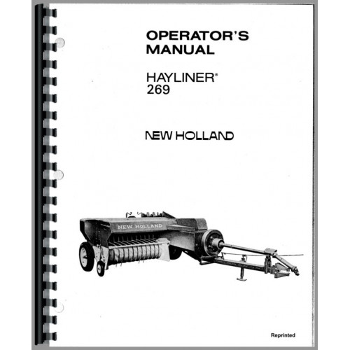 New Holland 269 Baler Operators Manual