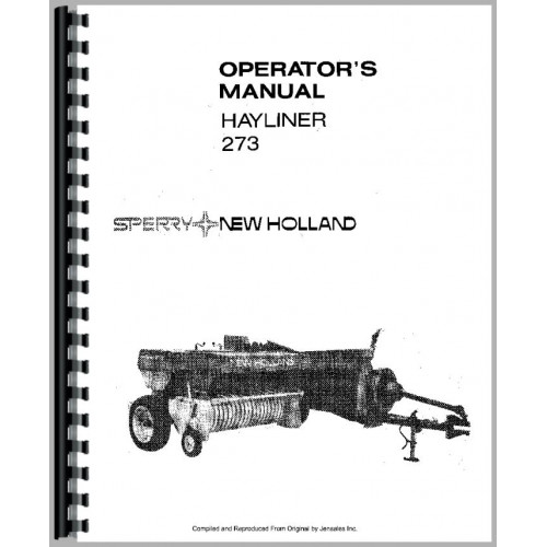 New Holland 273 Baler Operators Manual (SN# 42027315, 1976)