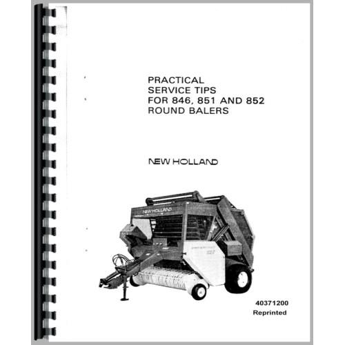 New Holland 851 Baler Practical Tips Service Manual