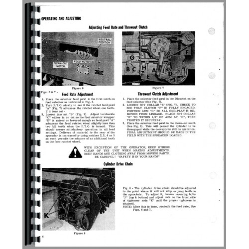 New Idea 212 Manure Spreader Operators & Parts Manual
