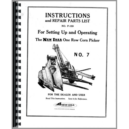 New Idea 7 1 Row Gathering Unit Operators Manual