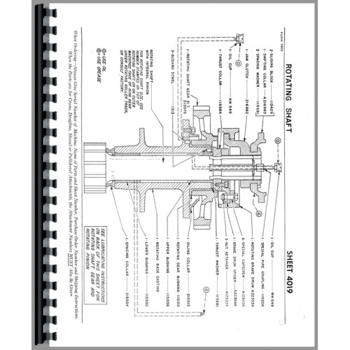 Northwest 25 Crane, Dragline, Shovel Crane Parts Manual