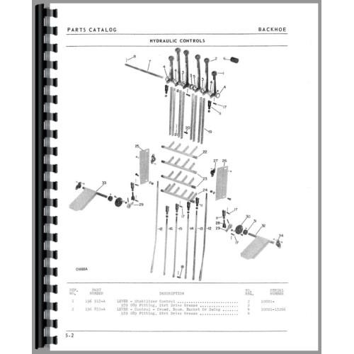 Oliver 1550 Backhoe Attachment Parts Manual